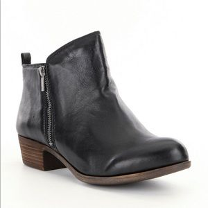 Lucky Brand Black Leather Basel Bootie size 7.5